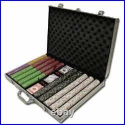 1,000 Ct Desert Heat Poker Set 13.5g Clay Composite Chips with Aluminum