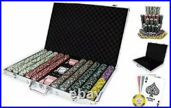 1,000 Ct Monaco Club Poker Set 13.5g Clay Composite Chips with Aluminum