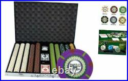 1,000 Ct The Mint Poker Set 13g Clay Composite Chips with Aluminum Case