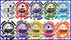 1,000 Yin Yang 13.5 Gram Casino Grade Clay Composite Poker Chips Acrylic Case