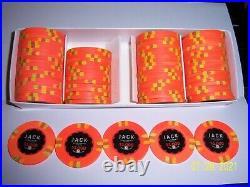 10 Jack Cincinnati Real Paulson Clay Poker Chips 1k RHC LOOK $1,000 Chips 43mm
