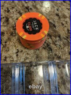 10 x Jack Cincinnati $1000 Real Paulson Clay Poker Chips 43mm RHC