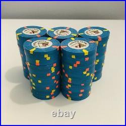 100-$1 Denom Pyramid Casino Paulson/PAUL-SON Clay Poker Chips
