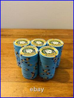 100-$1 Outpost Casino Paulson/PAUL-SON Clay Poker Chips TH&C