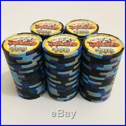 100-$100 Denom Aces Casino & Sports Bar PAUL-SON/Paulson Clay Poker Chips