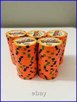 100-$3 Denom Aces Casino & Sports Bar Paulson Clay Poker Chips NEW