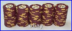 100 $5 Holiday in Reno H-mold Casino Poker Chips Vintage Clay Rare One Rack