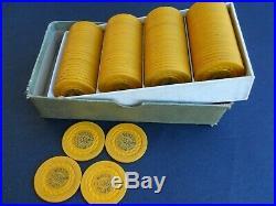 100 Vintage Clay Wayne Club Gambling Poker Chips Illegal Indiana very rare box