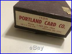 100 Vintage Embossed Clay POKER CHIPS from with box