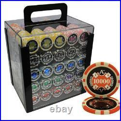1000 14g Ace Casino Clay Poker Chips Set Acrylic Case