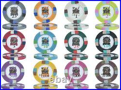 1000 14g Knights Casino Clay Poker Chips Set Choose Denominations