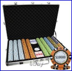 1000 14g Monte Carlo Poker Club Casino Clay Poker Chips Set 3-tone New