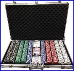 1000 Clay 11.5gr Ace/Jack Poker Chips Custom Set Choose Color Combination