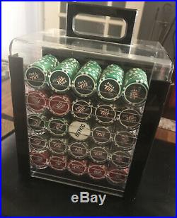 1000 Full Tilt Poker 12g Clay Chip Set WithAcrylic Carrying Case Handle NICE