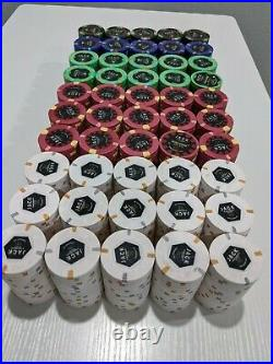 1000 Jack Cincinnati Poker Chips Real Paulson Clay Poker Chips Top Hat Cane