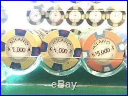 1000 Milano 10g Clay Poker Chips Set with Chip trays