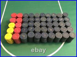 1000 Vintage Clay Poker Chips (Paulson Top Hat & Cane)