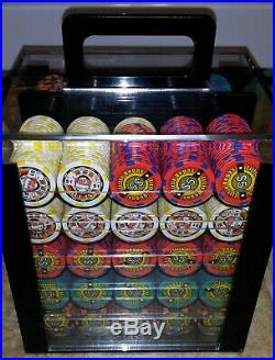 1000ct Professional Clay Poker Chips Set Acrylic Case