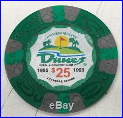 1179 Poker Chips $1/5/25/100/500 Dunes Commemorative Clay Composite 9gr. In Case