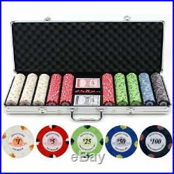 13.5-gram 500-piece Monaco Casino Clay Poker Chips Set N/A