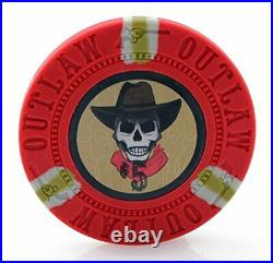 13g Outlaw Clay Poker Chips Set 500 Piece Set