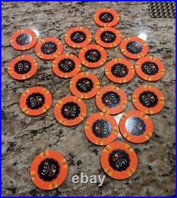 20 x Jack Cincinnati $1000 Real Paulson Clay Poker Chips 43mm RHC