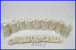 200 Paulson Top Hat & Cane $1 White Clay Poker Chips8 GramsHorizon Edge Casino