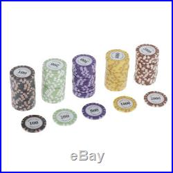200x Classic Poker Chips with Box Casino Supply Hilarious Family Games Accs