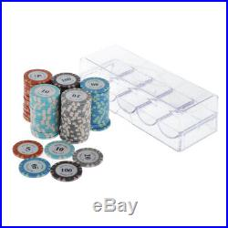 200x Professional Poker Chips with Box Casino Supply Token Family Games Accs