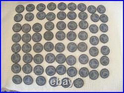 283 Antique Clay Spread Eagle & Shield Arrows Stars Poker Chips & Wooden Carrier