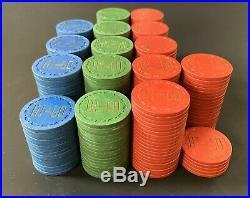 297 TRK Sm Crown Clay Poker Chips Hi-Lo Club