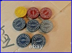 30 Vintage M. Stachelberg & Co's Cigars Advertising Poker Chips Clay 1.5 dia