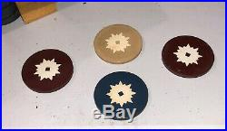 300 Vintage Clay Poker Chips in Original Box / Tray