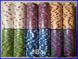 300 pc x New Real Clay Poker 10g Chips Red + 1 Paulson Top Hat & Cane $100