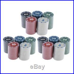 300x Casino Fun Home Gift Poker Chips Tokens Clay Bright Colors 3.9cm Type