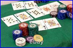 320 Piece Pro Poker Clay Poker Set Heavy weight clay chips 320pcs Model Ak