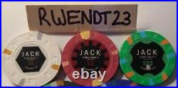 400 Jack Cincinnati Real Paulson Clay Poker Chips REAL CASINO POKER CHIPS