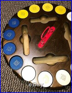 400 Paulson clay poker chip set with chip carousel