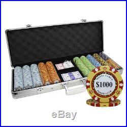 500 14g Monte Carlo Poker Club Clay Poker Chips Set Custom Build