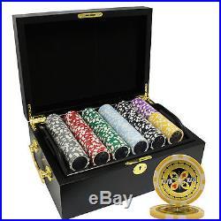 500 14g Ultimate Clay Poker Chips Set Mahogany Case Custom Build