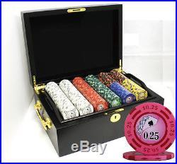 500 14g Yin Yang Clay Poker Chips Set Mahogany Case New