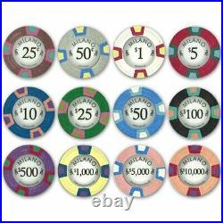 500 Count Milano Poker Set 10 Gram Premium Casino Grade Clay Chips with