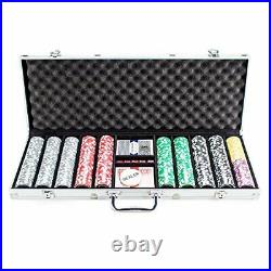 500 Count The Ultimate Poker Set 14 Gram Clay Composite Chips with Aluminum