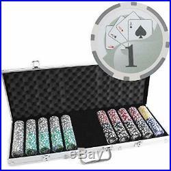 500 Ct Yin Yang 13.5 Gram Clay Poker Chip Set with Aluminum Case