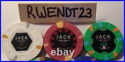 500 Jack Cincinnati Real Paulson Clay Poker Chips REAL CASINO POKER CHIPS