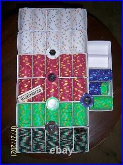 500 Jack Cincinnati Real Paulson Clay Poker Chips RHC REAL CASINO POKER CHIPS