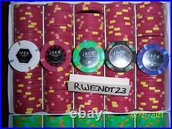 500 Mixed Denomination Jack Cincinnati Real Paulson Clay Poker Chips REAL CHIPS