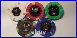 500 Mixed Denomination Jack Cincinnati Real Paulson Clay Poker Chips RHC LOOK