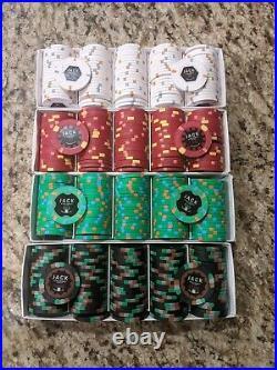 500 Mixed Denomination Jack Cincinnati Real Paulson Clay Poker Chips THC/RHC