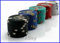 500 Pcs Outlaw Clay Poker Chips Set Home Casino Gambling Card Game Aluminum Case